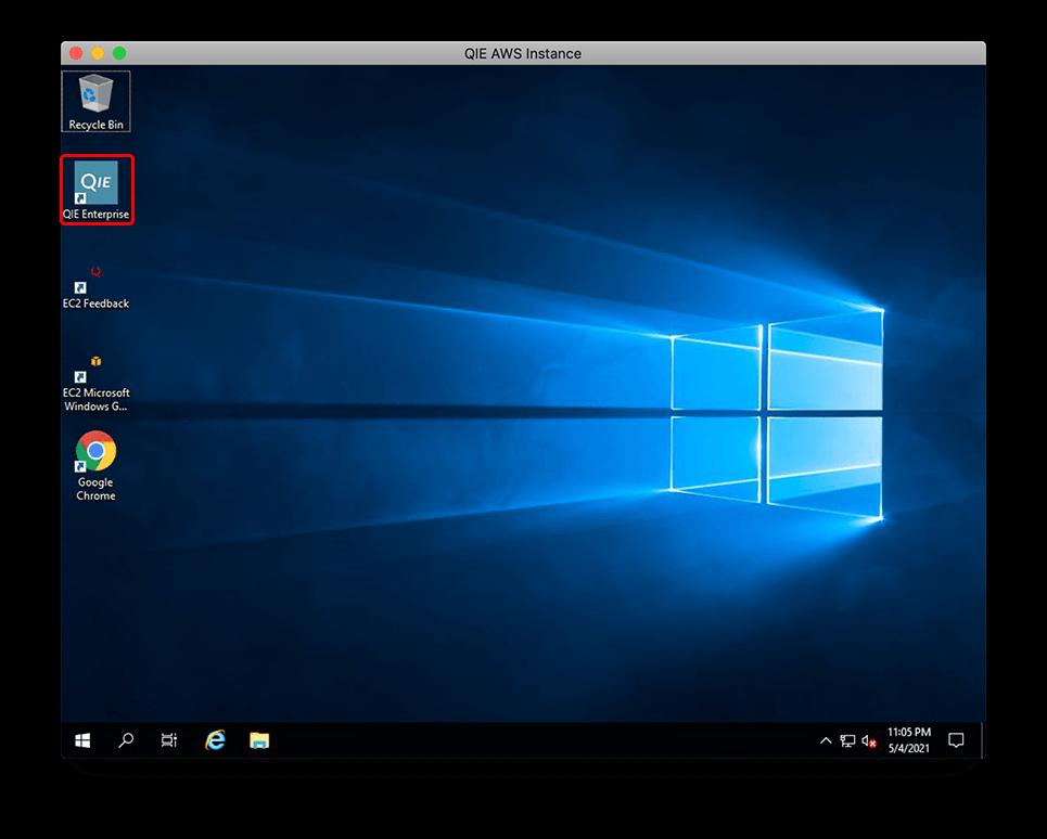 AWS EC2 - QIE Enterprise Desktop Icon